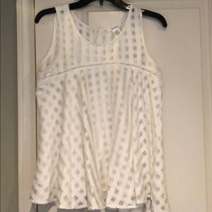 Tops - White gingham tank top